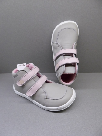 Baby Bare Shoes Febo Fall Grey/Pink