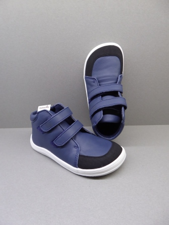 Baby Bare Shoes Febo Fall Navy + Asfaltico