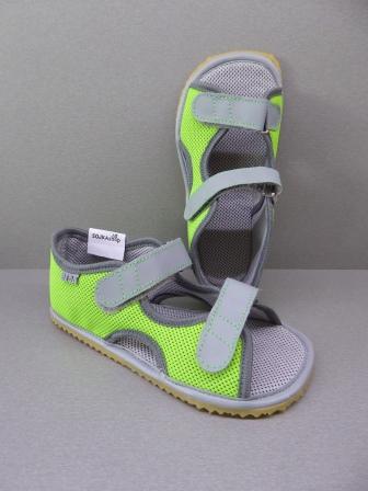 c92f83668 Beda Sandály textilní Zelená | SOJKAshop - Barefoot & Barefood pro ...