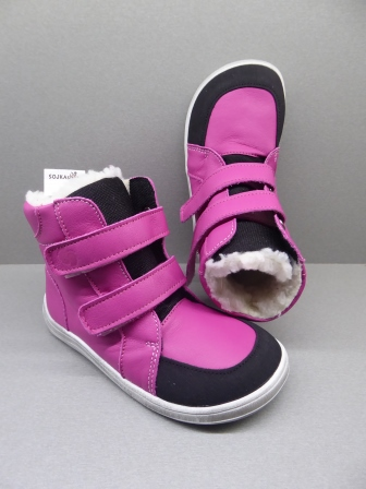 Baby Bare Shoes Febo Winter Fuchsia + Asfaltico