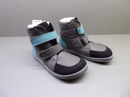 Baby Bare Shoes Febo Winter Grey/Tyrkys + Asfaltico