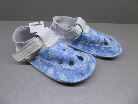 Baby Bare Shoes IO Top Stitch Snowflakes