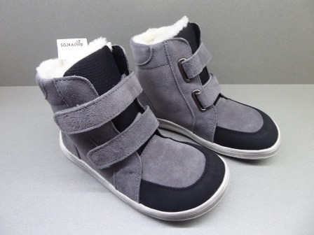 Baby Bare Shoes Febo Winter Grey + Asfaltico