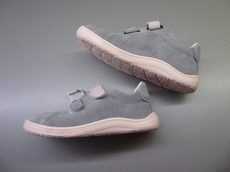 Baby Bare Shoes Febo Spring Grey/Pink