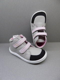 Baby Bare Shoes Febo Fall Grey/Pink + Asfaltico