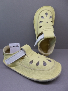 Baby Bare Shoes IO Top Stitch Canary