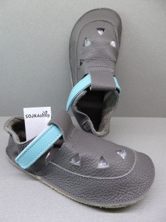 Baby Bare Shoes IO Top Stitch Blue Beetle