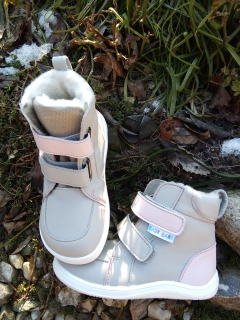 Baby Bare Shoes Febo Winter Grey/Pink
