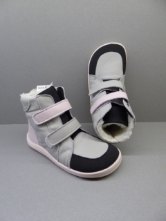 Baby Bare Shoes Febo Winter Grey/Pink + Asfaltico